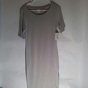 NWT LuLaRoe Dress Julia Solid Gray NWT